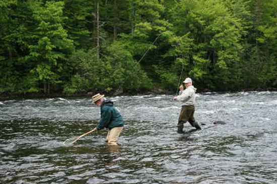 October meeting jim norton and gerry crow of the new for Best trout fishing in new hampshire